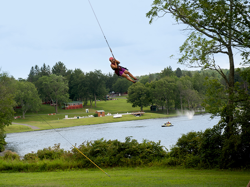 The giant swing at Camp Pocono Trails