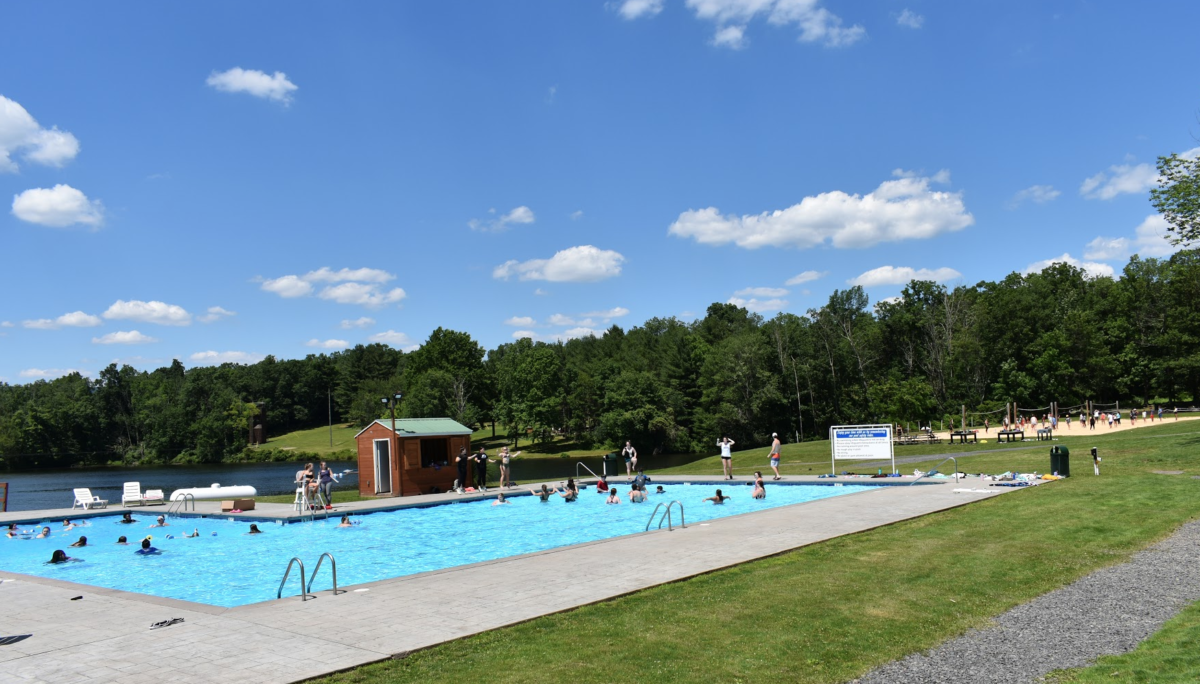 Camp Pocono Trails pool and lake