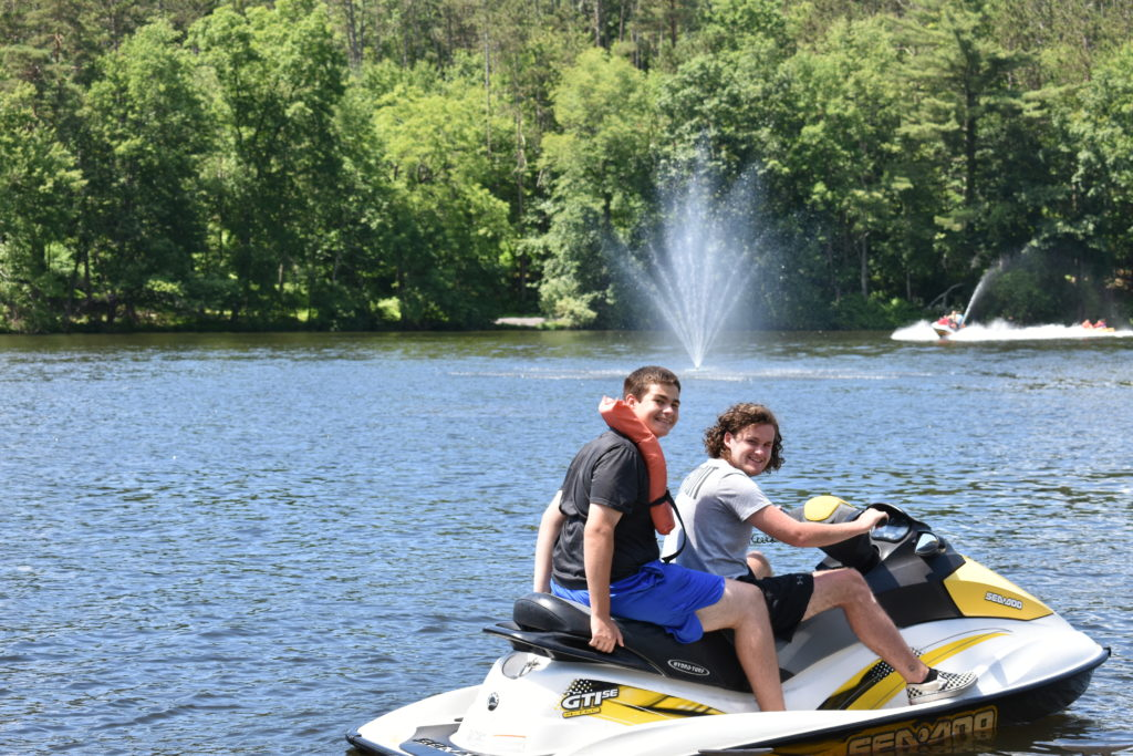Boating at Camp Pocono Trails